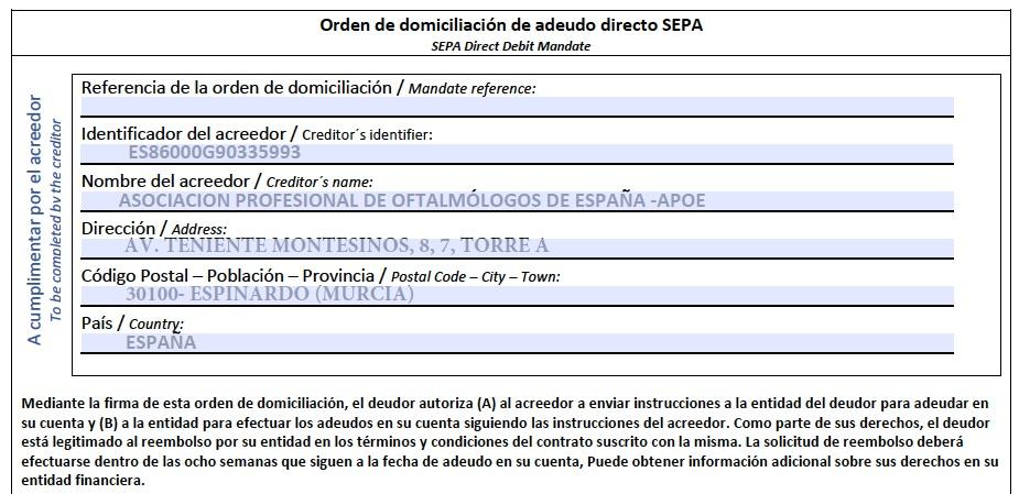 Encabezado SEPA
